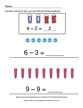 Subtraction With Pictures Within 10 (Part 2)