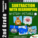 Subtraction Coloring Sheets For 2nd Grade, Subtracting With Regrouping Activity
