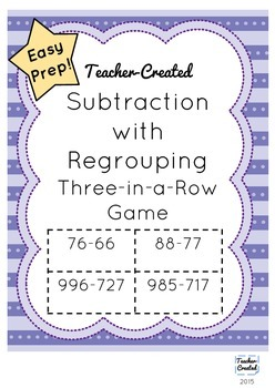 Subtraction With Regrouping Game
