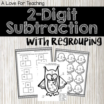 Subtraction With Regrouping {Print & Go + Digital}