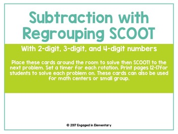 Subtraction With Regrouping SCOOT Game!