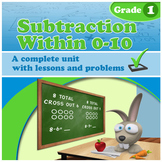 Subtraction Within 0-10, Grade 1 (Distance Learning)