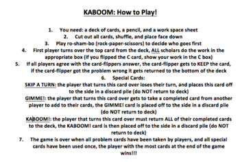 Subtraction Within 1,000 KABOOM Game (Subtracting Within 1,000)