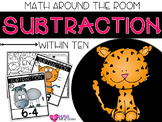 Subtraction Within 10 {A Math Around the Room Center}