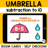 Subtraction Within 10 Boom Cards : Spring Math Boom Cards
