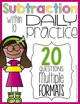 Subtraction Within 10 Daily Practice