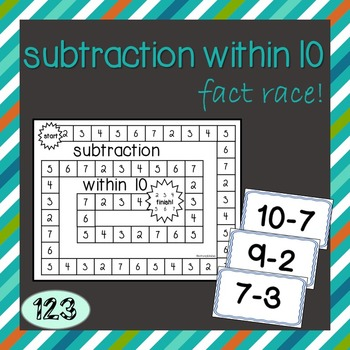 Subtraction Within 10 - Fact Race Game