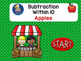 Subtraction Within 10  Interactive PowerPoint Self Correct