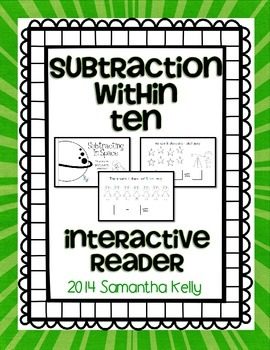 Subtraction Within 10 Interactive Reader
