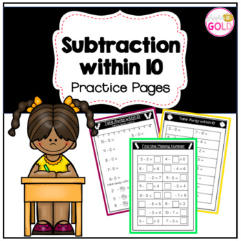 Subtraction Within 10 Practice Pages