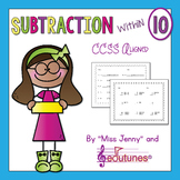 Subtraction Within 10 Practice Pages | Use in Distance Learning Packets