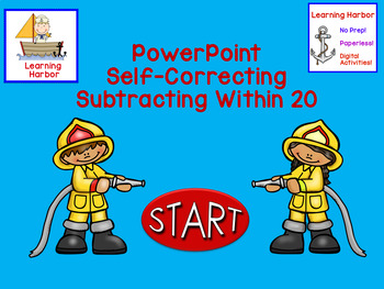 Subtraction Within 20 1st Grade Firefighters Self-Correcting PowerPoint