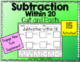 Subtraction Within 20- Cut and Paste Pack- Engage New York Supplement
