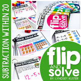 Subtraction Within 20 - Flip and Solve Books