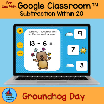 Subtraction Within 20 Groundhog Day