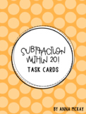 Subtraction Within 20 Task Cards
