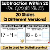 Subtraction Within 20 for Google Slides | Distance Learning