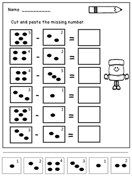 Subtraction Within 5 Practice Sheets