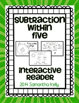 Subtraction Within 5 Interactive Reader