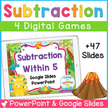 Subtraction Within 5 Powerpoint