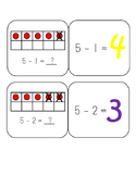 Subtraction Within 5 Quiz Quiz Trade
