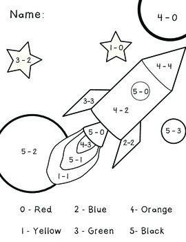 Subtraction Within 5 Worksheet Bundle