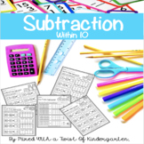 Subtraction Within Ten - Kindergarten