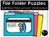Double Digit Subtraction Without Regrouping File Folder Puzzles Summer Theme