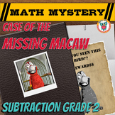 2nd Grade Subtraction Without Regrouping Review - Math Mystery