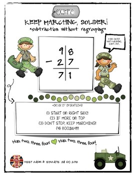 Subtraction Without Regrouping Poster