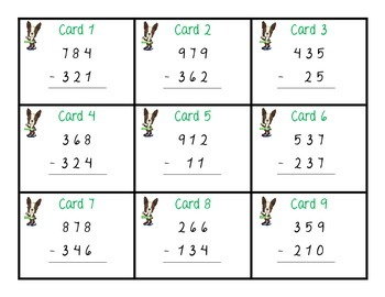 Subtraction Without Regrouping Scoot