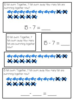 Subtraction Word Problem Activity Differentiated