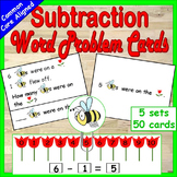 Subtraction Word Problems Kindergarten or First Grade