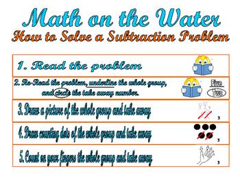 Subtraction Word Problem Exemplar and Problem Solving Steps Sheet