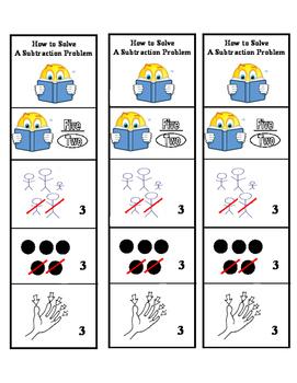 Subtraction Word Problem Extra Help Bookmark