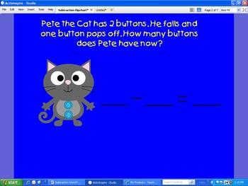 Subtraction Word Problem Flipchart