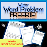 Subtraction Math Word Problem FREEBIE