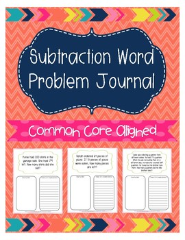 Subtraction Word Problem Journal