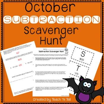 Subtraction Word Problem Scavenger Hunt