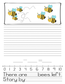 Subtraction Word Problem Story Writing Freebie