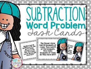 Subtraction Word Problem Task Cards
