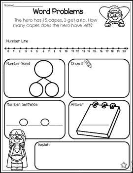 Subtraction Word Problem Worksheets