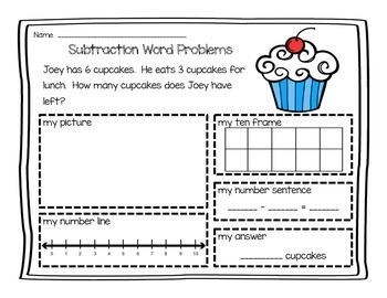 Subtraction Word Problems (0-10)