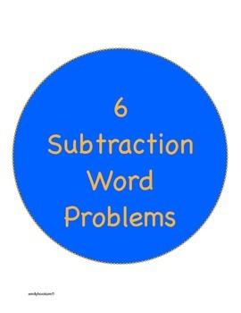 6 Common Core Subtraction Word Problem Worksheets