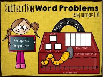 """Subtraction Word Problems """"Numbers 1-10"""""""