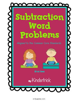 Subtraction Word Problems- Aligned with the Common Core Standards