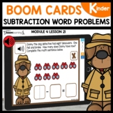 Subtraction Word Problems | BOOM Cards |Digital |Distance