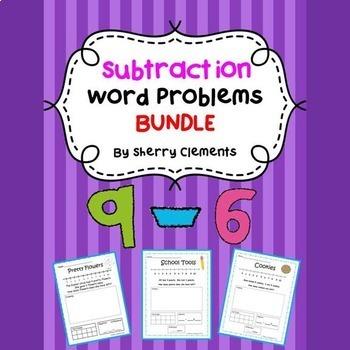 Subtraction Word Problems Bundle
