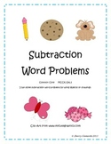Subtraction Word Problems Distance Learning