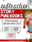 Subtraction Word Problems: Differentiated December Mini-Books